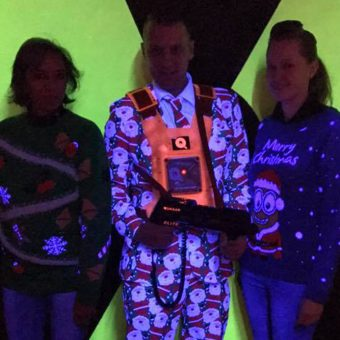 Christmas Lazer Zone Photo
